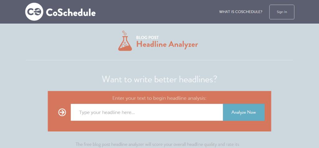 Write Better Headlines Free Headline Analyzer From CoSchedule