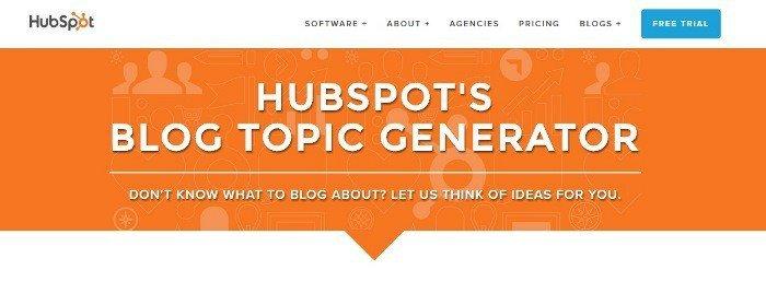 Hubspot 's Blog Topic Generator - Writing Tools for Success