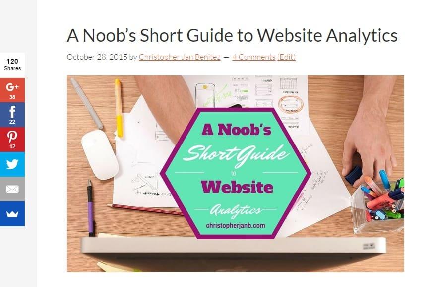 A Noob s Short Guide to Website Analytics screencaps