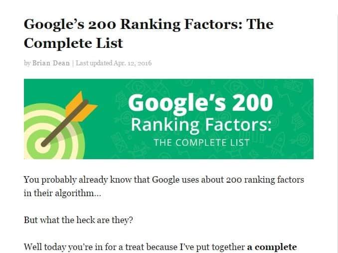 Google Ranking Factors The Complete List - Brian Dean at Backlinko