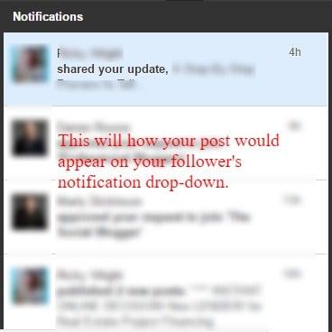 LinkedIn notification