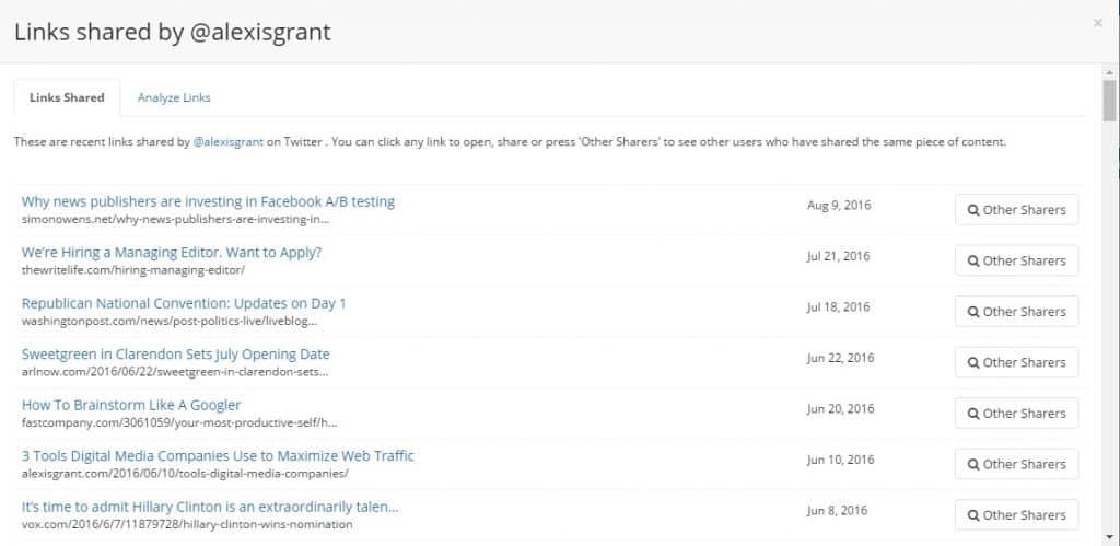 Outreach Lists ~BuzzSumo