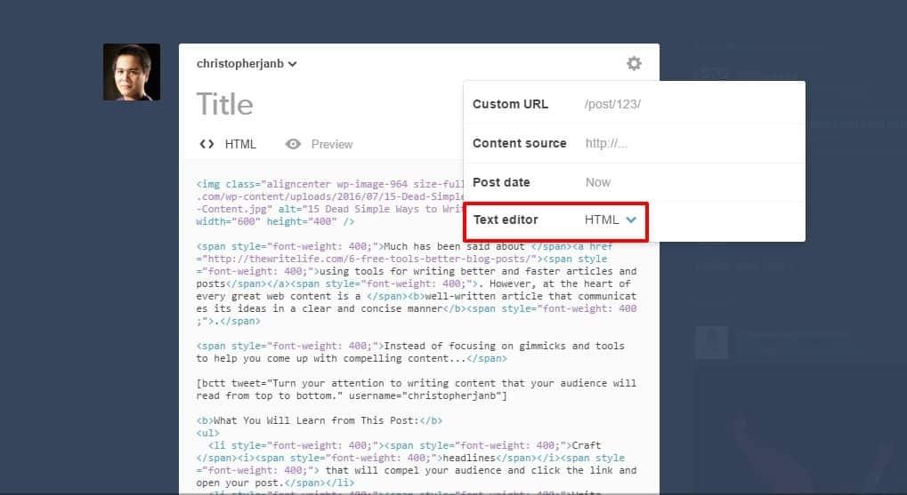 Tumblr HTML