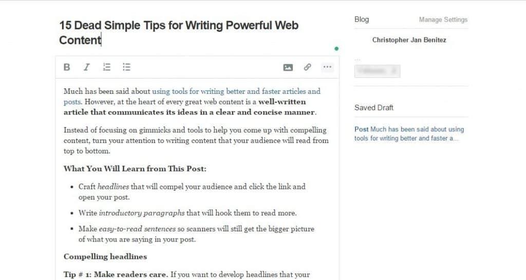 quora writing new post