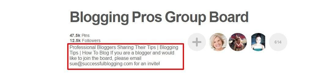 Blogging Pros Group Board on Pinterest