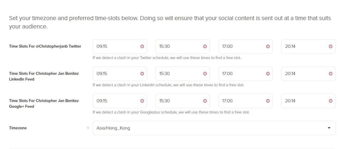 MissingLettr schedule