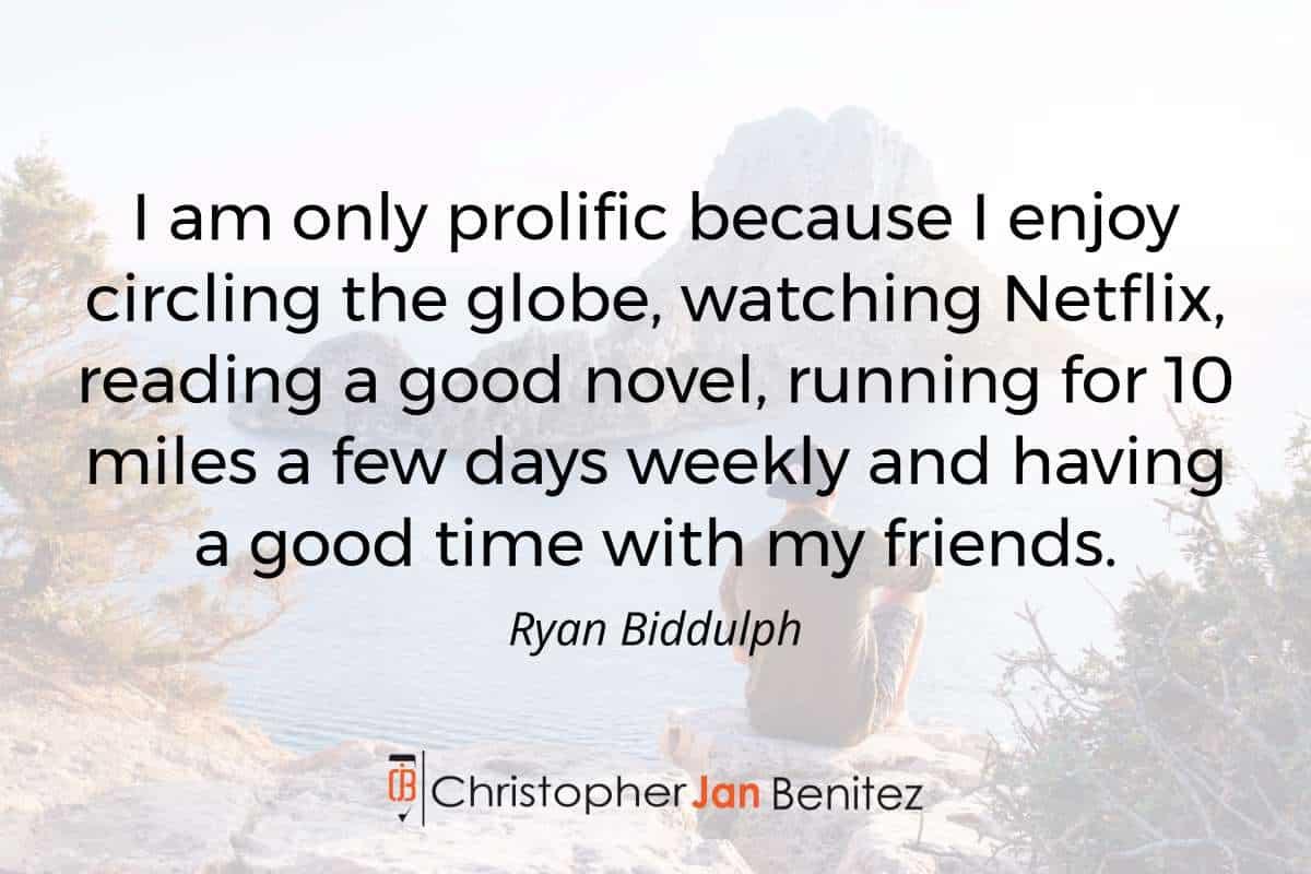 Ryan Biddulph quote - Blogging Consistently