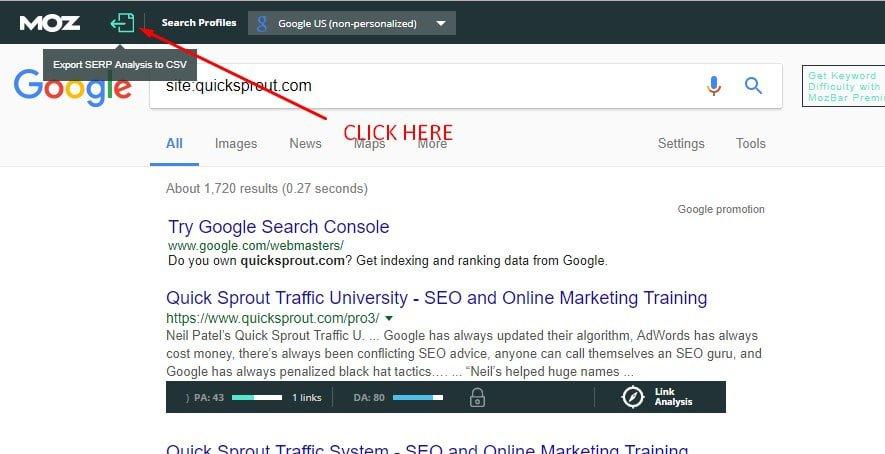 google mozbar