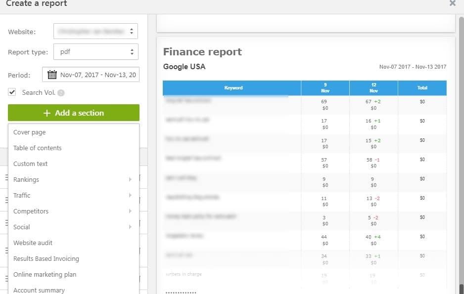 client seo report