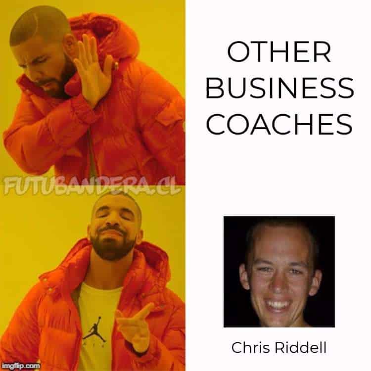 drake for business coach chris riddell
