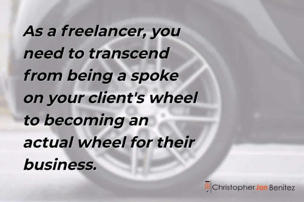from spoke to wheel