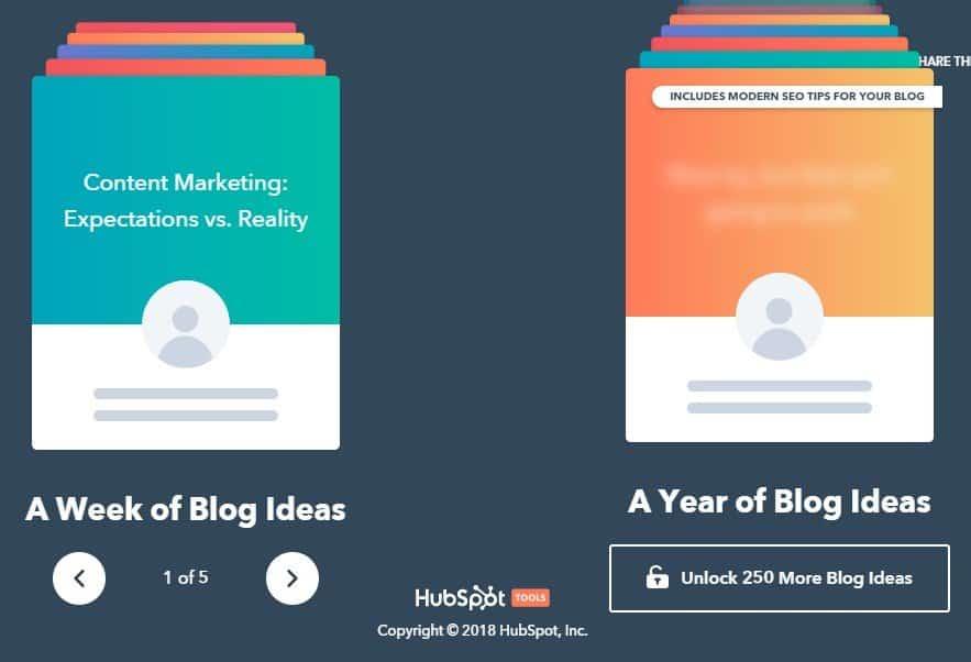 hubspot blog ideas
