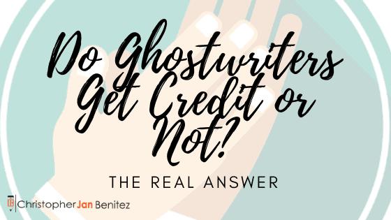 do ghostwriters get credit